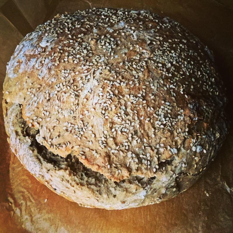 Pão de Arroz com Sementes de Sésamo